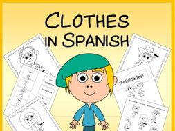 Spanish Clothes Vocabulary Sheets, Worksheets, Matching & Bingo Games
