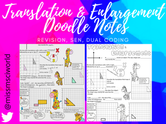 Translation & Enlargement Maths Doodle Note