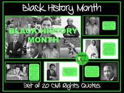Black History Month - Civil Rights Quote Posters
