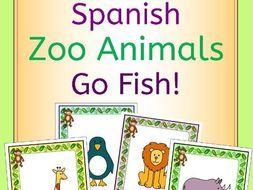 Spanish Zoo Animals - En El Zoo - Go Fish! Game