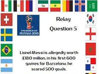 World Cup Maths Relay Race