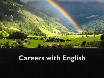 Increase knowledge of careers using English skills
