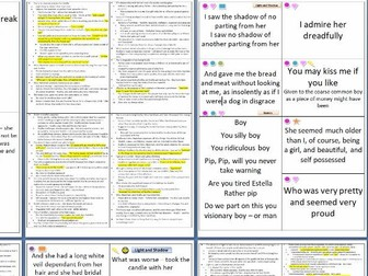 75 Fully Analysed Great Expectations Quote Cards - Printable