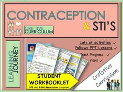 Contraception and Sex  PSHE WorkBook