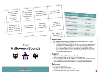 Halloween Bounds Mystery (Will the Cauldron Overflow?)