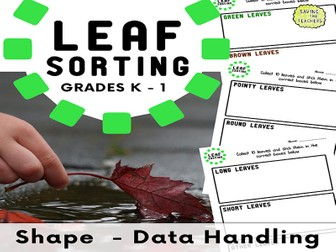 Leaf Sorting - Data Handling - Shape, Space, and Measure (Years 1 - 2)
