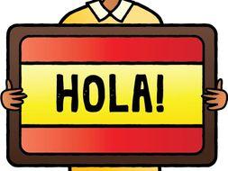 4 Spanish Beginner Readings: Escuela, Deportes, Amigos, Mi casa: (Version 1)