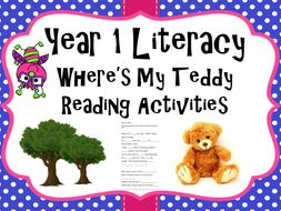 Year 1 Literacy - 'Where's my teddy' Reading activities