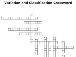 Variation and Classification Crossword