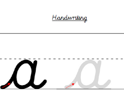Cursive Handwriting Sheets for Single Letter Formation by