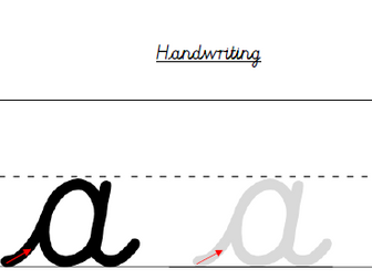 Cursive Handwriting Sheets for Single Letter Formation