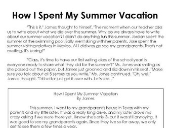 Back to School Close Reading Activities 2 Pack: Back to School & How I Spent My Summer Vacation