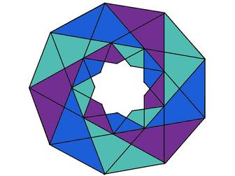 Colour by dividing with decimals