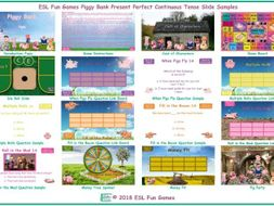 Present Perfect Continuous Tense Piggy Bank English PowerPoint Game