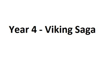 Literacy Learning Plan Year 4 Viking Saga