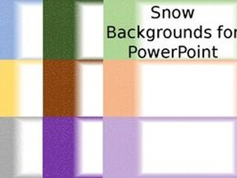 Snow Backgrounds for PowerPoint