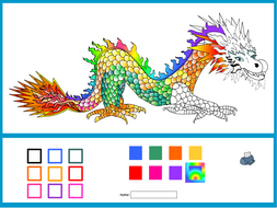 colouring in chinese new year dragon interactive activity chinese new year ks1