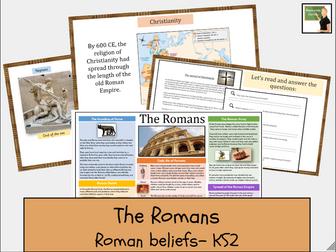 History- The Romans- Roman Beliefs- Gods/ Goddesses and Christianity