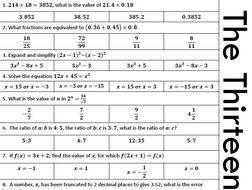 Multiple Choice quizzes - GCSE maths higher