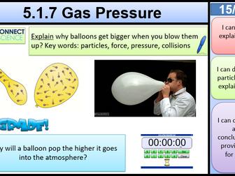 5.1.7 Gas Pressure KS3 AQA Activate