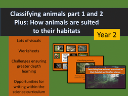 Living things and their habitat bundle - year 2