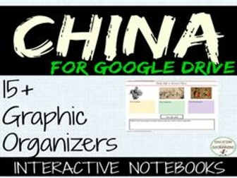 China Interactive Notebook graphic organizers for Google Drive