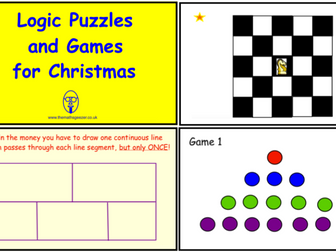 Logic Puzzles and Games for Christmas (ppt version)