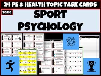 Sports Psychology PE Task Cards