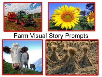 Farming, Farm Animals And Farm Visual Story Prompts + 31 Teaching Activities Using These Resources