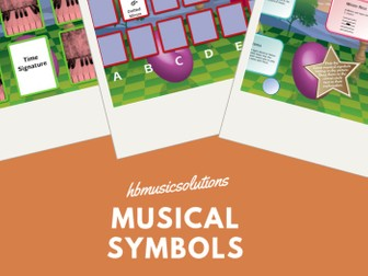 Musical Symbols UK Version Music Interactive Games Activity