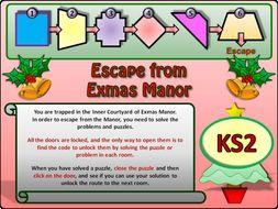 Christmas Maths Escape Room KS2