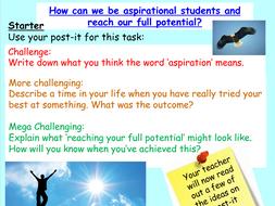Aspiration - Wellbeing PSHE