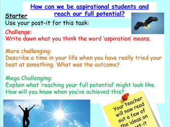 Aspiration - Wellbeing PSHE