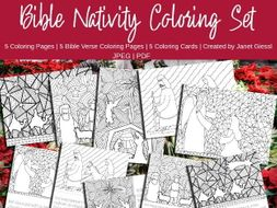 Bible Nativity Coloring Set