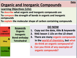KS5 Chemistry: Organic and Inorganic Compounds (AS Level)