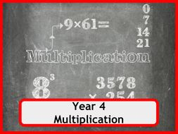 Multiplication Worksheets for Year 4