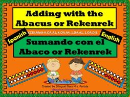 Rekenrek-Abaco FREEBIE Printable -Center-Hojas-Centro Bilingual Stars Mrs
