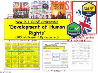 Topic: Development of Human Rights GCSE Citizenship (9-1)