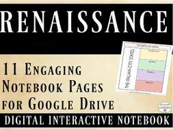 Renaissance Interactive Notebook Digital Graphic Organizers for Google Drive