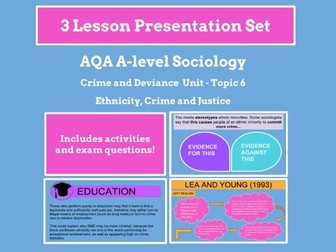 Ethnicity and Crime - AQA A-level Sociology - Crime and Deviance Unit - Topic 6