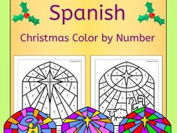 Spanish Christmas Color by Number