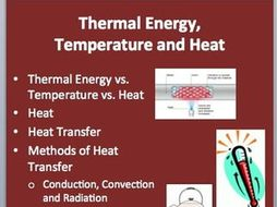Thermal Energy, Temperature and Heat - Physics Lesson and Worksheet ...