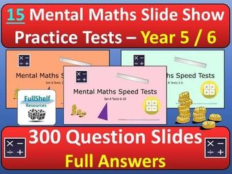 Mental Maths Tests Year 5 / 6