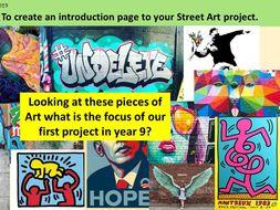 KS3 Pop Art and Street Art Projects