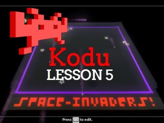 Kodu - Space Invaders - Lesson 5