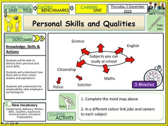 Personal Qualities and Skills - Careers Education