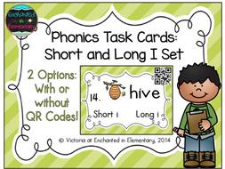 Phonics Task Cards: Short and Long I