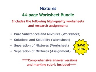 Mixtures [Worksheet Bundle]