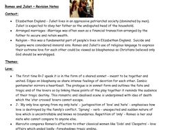 Romeo and Juliet - Revision Guide (High Level)