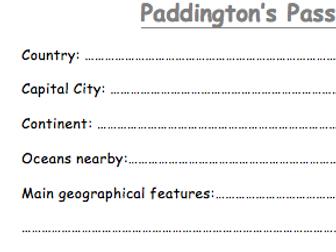 Paddington Bear's Passport   Teaching Resources